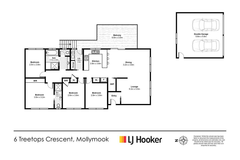 Floorplan of Homely house listing, 6 Treetops Crescent, Mollymook NSW 2539