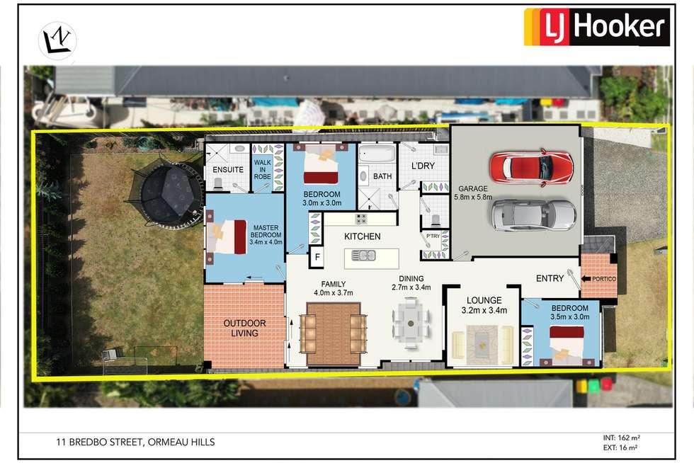 Floorplan of Homely house listing, 11 Bredbo Street, Ormeau Hills QLD 4208