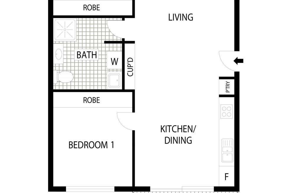 Floorplan of Homely apartment listing, 17/126 Thynne Street, Bruce ACT 2617