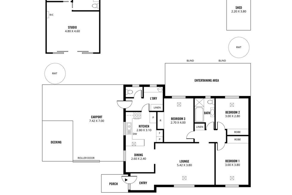 Floorplan of Homely house listing, 10 Hawker Crescent, Elizabeth East SA 5112