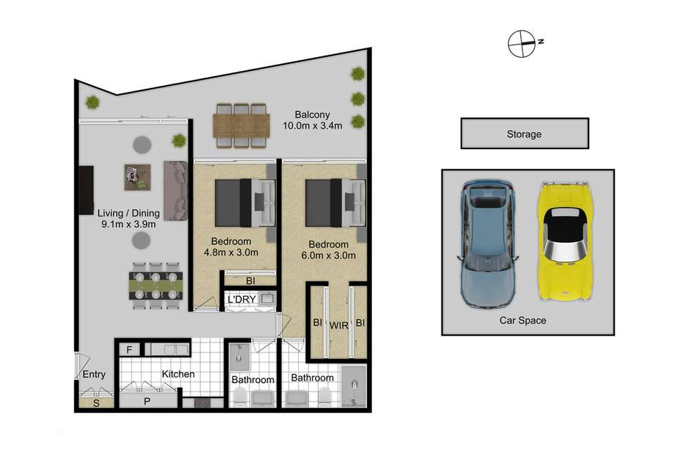 Floorplan of Homely apartment listing, 38/3 Burbury Close, Barton ACT 2600