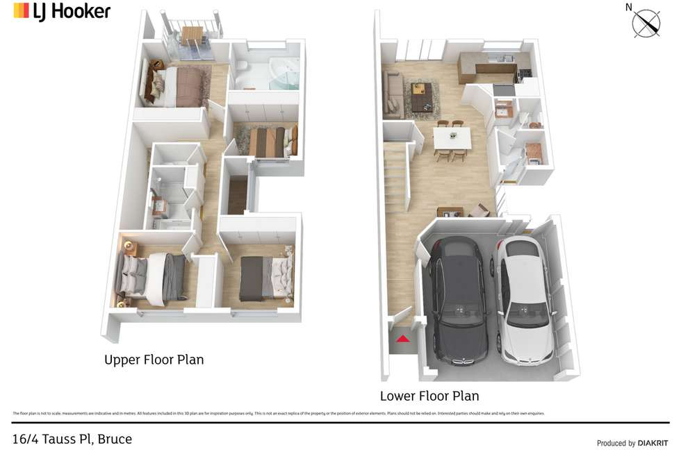 Floorplan of Homely townhouse listing, 16/4 Tauss Place, Bruce ACT 2617
