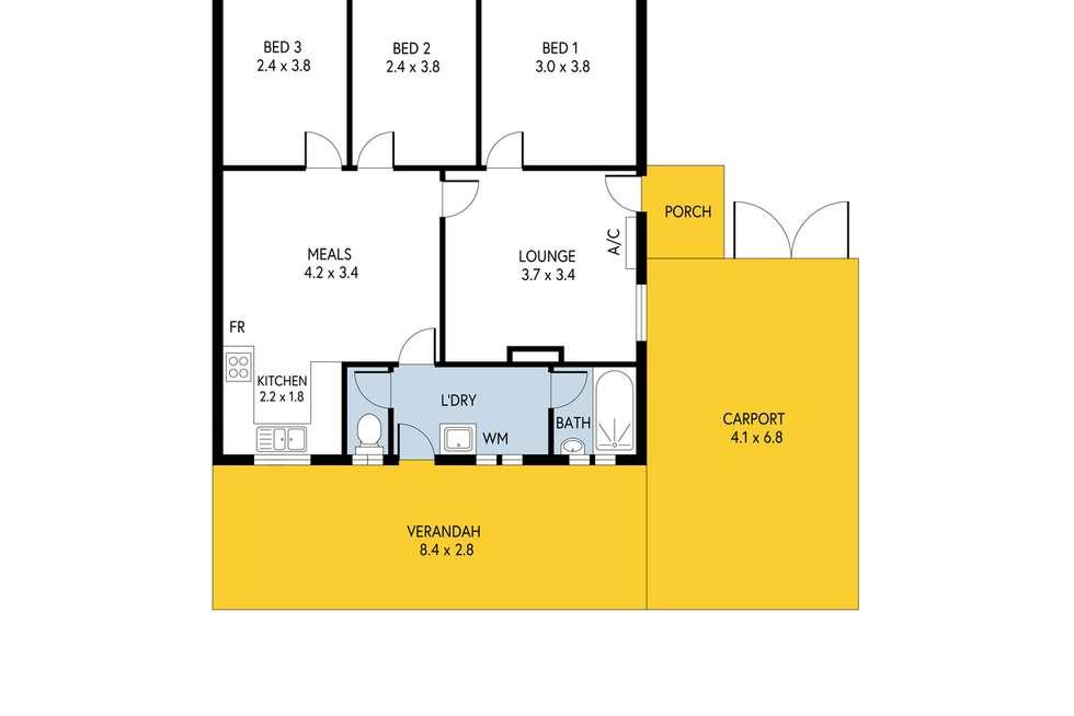 Floorplan of Homely semiDetached listing, 81 Hunter Crescent, Salisbury North SA 5108