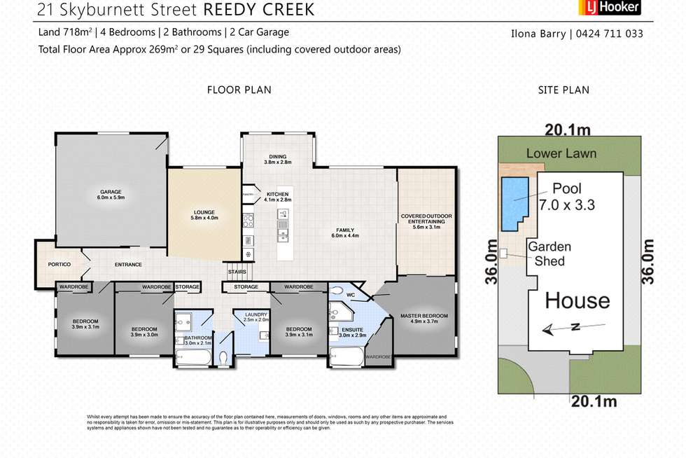 Floorplan of Homely house listing, 21 Skyburnett Street, Reedy Creek QLD 4227