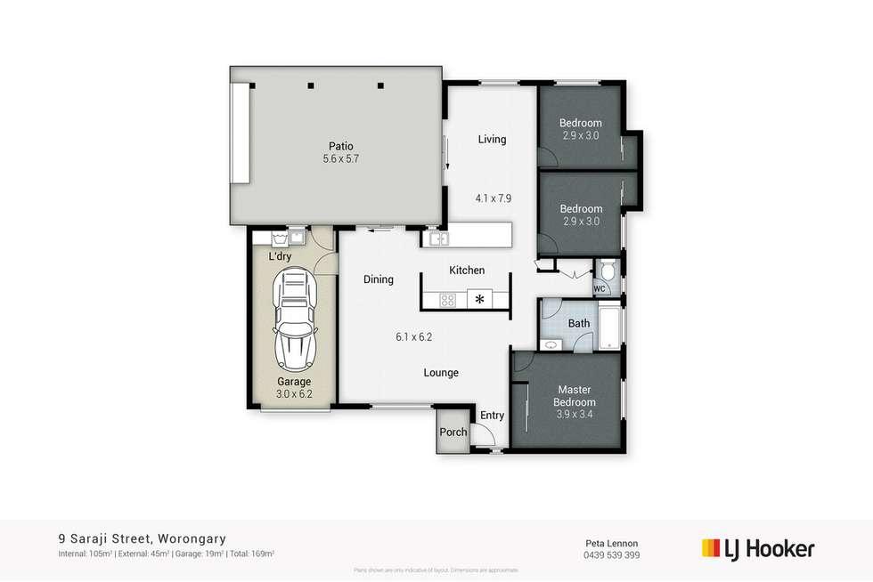 Floorplan of Homely house listing, 9 Saraji Street, Worongary QLD 4213