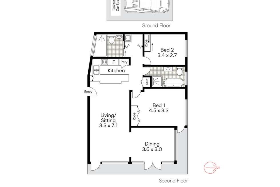 Floorplan of Homely apartment listing, 23/2 Clifford Street, Mosman NSW 2088