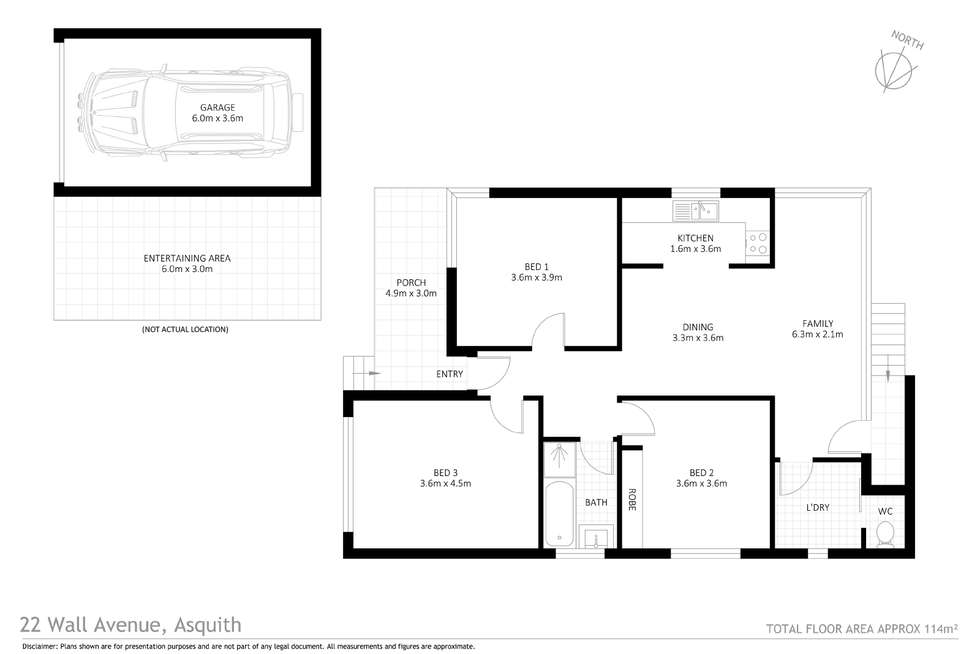 Floorplan of Homely house listing, 22 Wall Avenue, Asquith NSW 2077