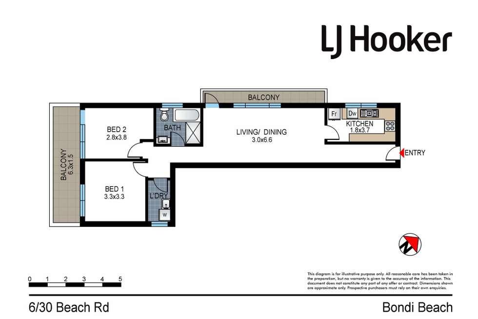 Floorplan of Homely apartment listing, 6/30 Beach Road, Bondi Beach NSW 2026