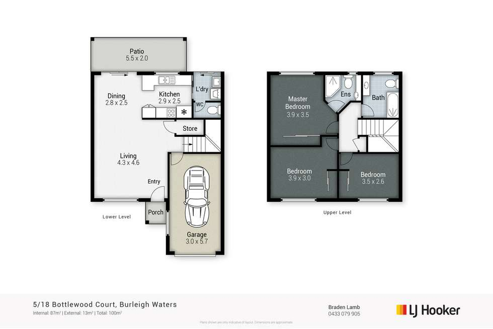 Floorplan of Homely townhouse listing, 5/18 Bottlewood Court, Burleigh Waters QLD 4220