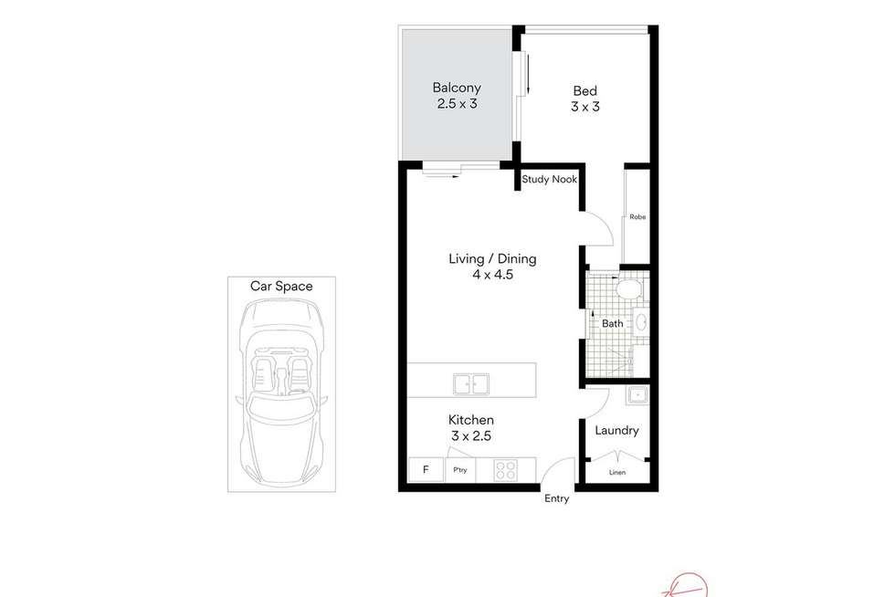 Floorplan of Homely apartment listing, 1107/48 Jephson Street, Toowong QLD 4066