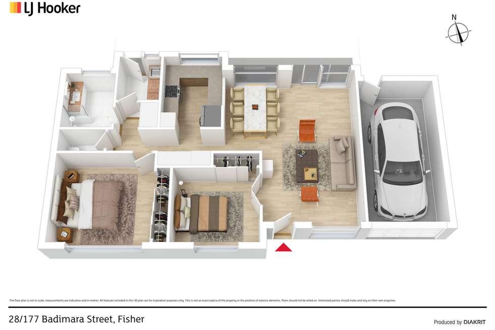Floorplan of Homely retirement listing, 28/177 Badimara Street, Fisher ACT 2611