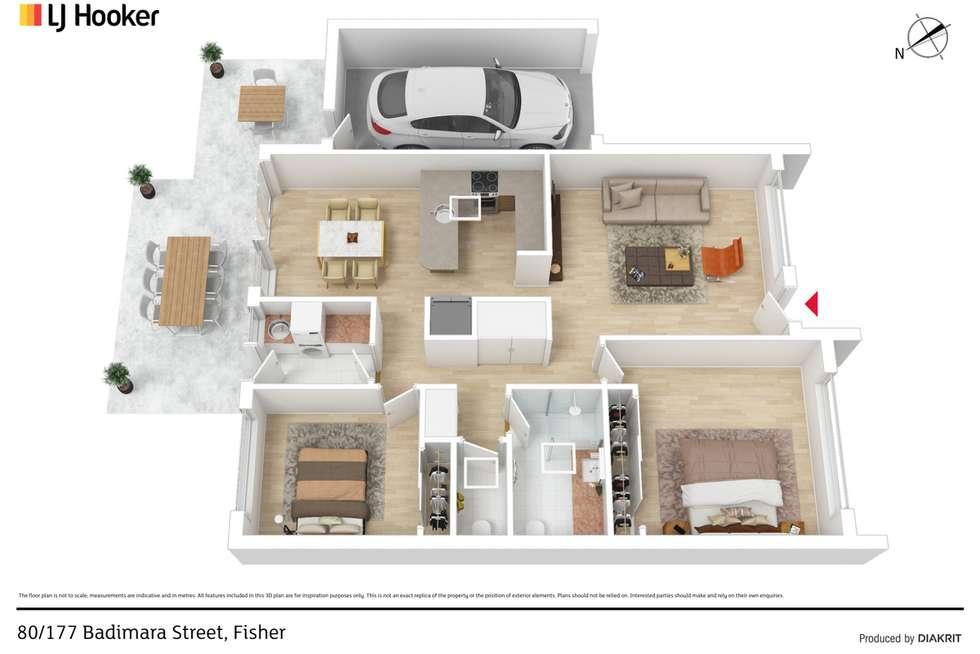 Floorplan of Homely unit listing, 80/177 Badimara Street, Fisher ACT 2611