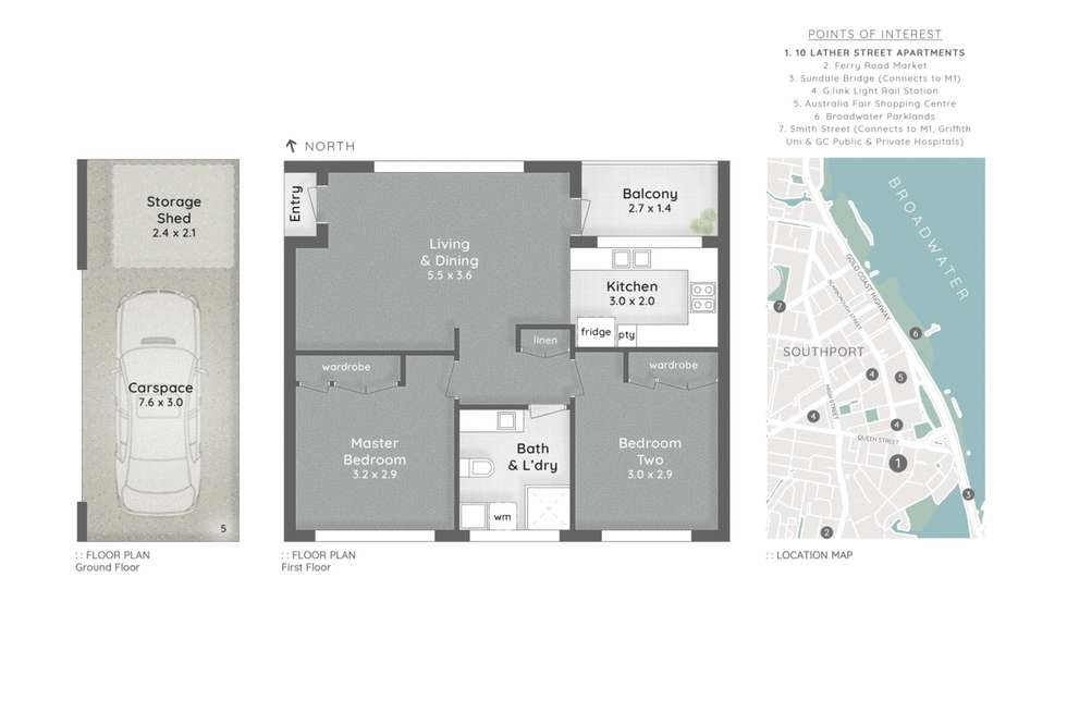 Floorplan of Homely apartment listing, 5/10 Lather Street, Southport QLD 4215