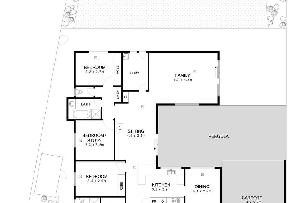 Floorplan of Homely house listing, 23 Merle Marten Drive, North Haven SA 5018