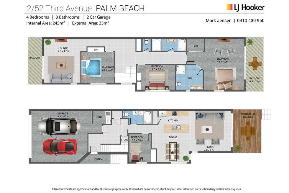 Floorplan of Homely semiDetached listing, 2/52 Third Avenue, Palm Beach QLD 4221