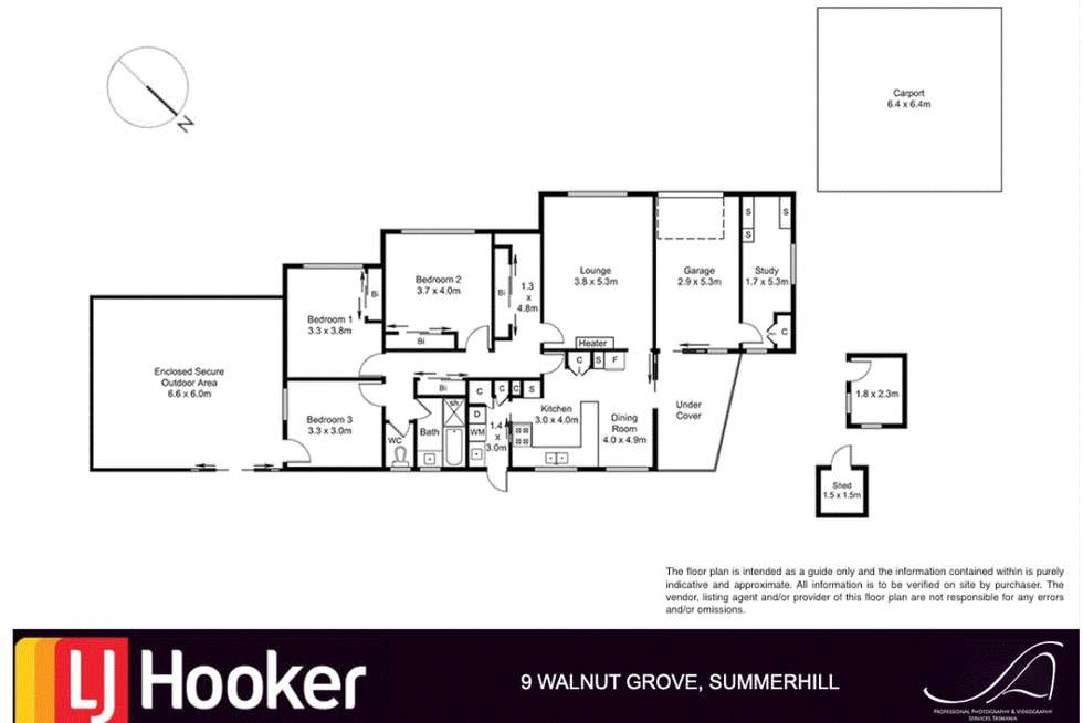 Floorplan of Homely house listing, 9 Walnut Grove, Summerhill TAS 7250