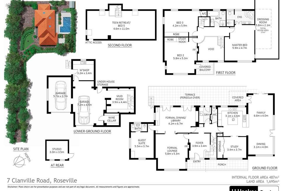 Floorplan of Homely house listing, 7 Clanville Road, Roseville NSW 2069