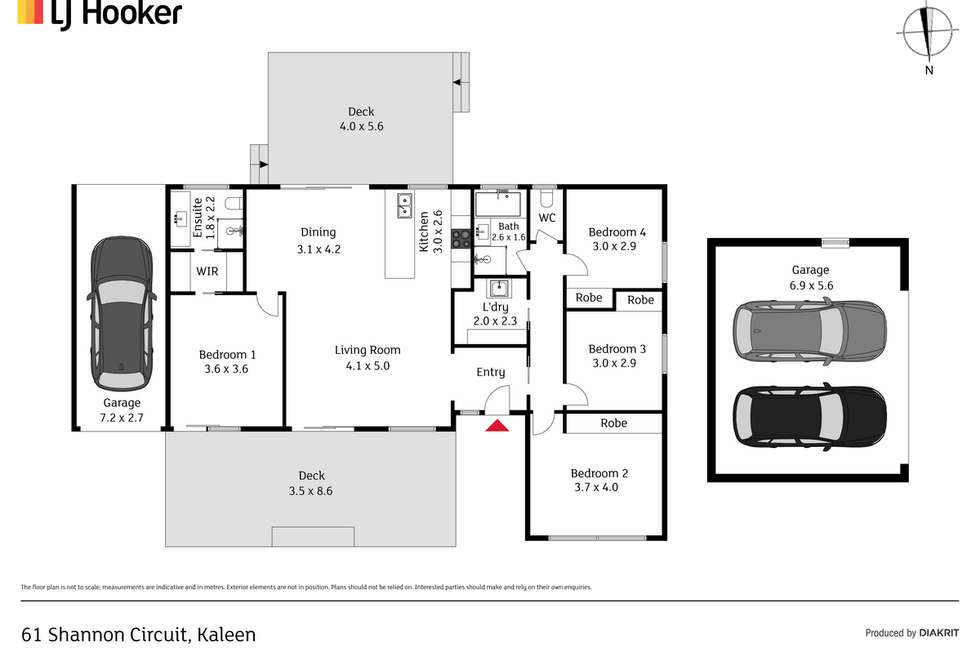 Floorplan of Homely house listing, 61 Shannon Circuit, Kaleen ACT 2617