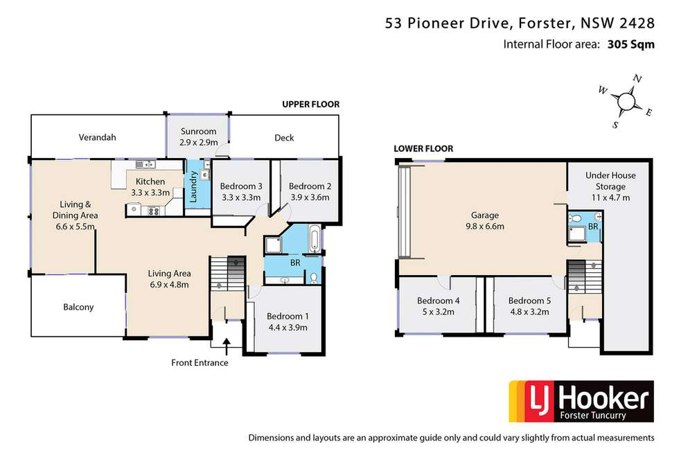 Floorplan of Homely house listing, 53 Pioneer Drive, Forster NSW 2428