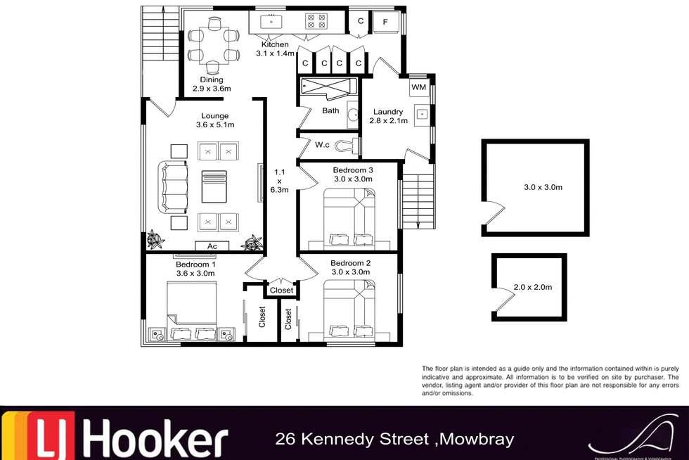 Floorplan of Homely house listing, 26 Kennedy Street, Mayfield TAS 7248