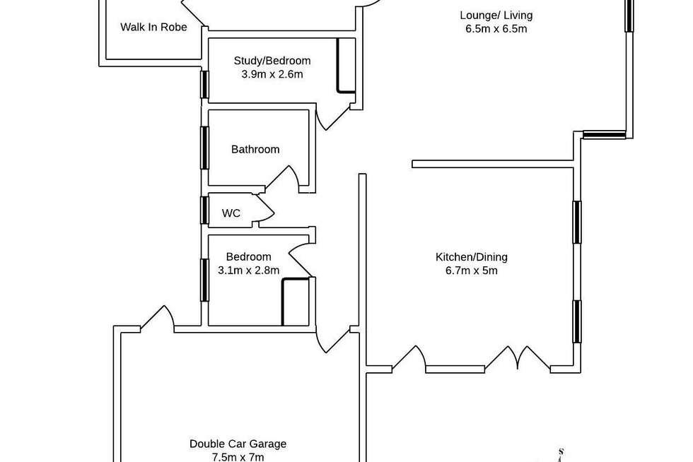 Floorplan of Homely townhouse listing, 3/98 Joseph Avenue, Moggill QLD 4070