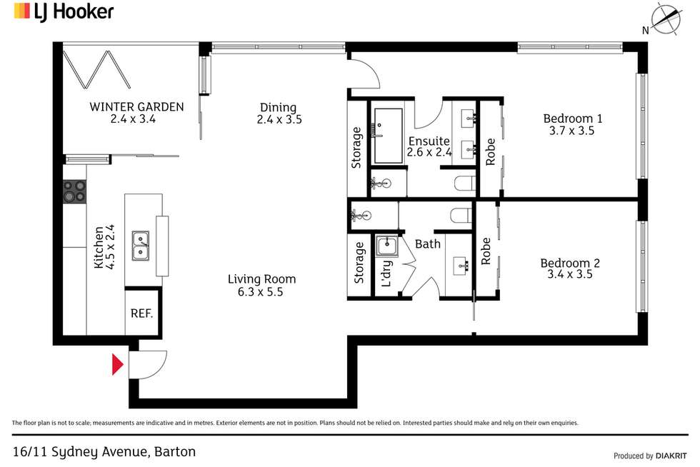 Floorplan of Homely apartment listing, 16/11 Sydney Avenue, Barton ACT 2600