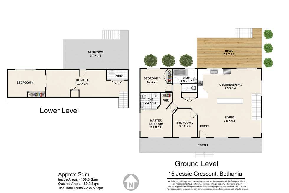 Floorplan of Homely house listing, 15 Jessie Crescent, Bethania QLD 4205