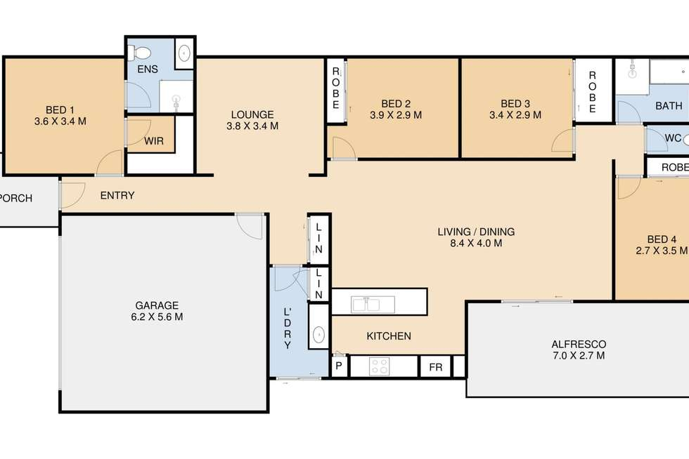 Floorplan of Homely house listing, 10 Menton Place, Harristown QLD 4350