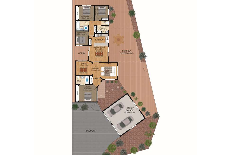 Floorplan of Homely house listing, 2A Hansen Circuit, Isaacs ACT 2607