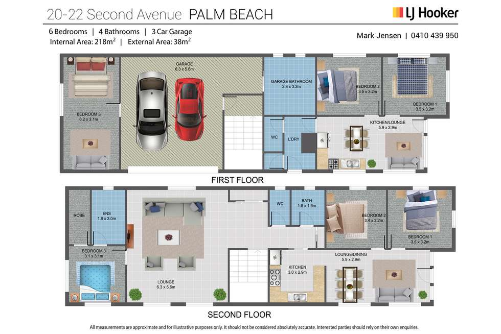 Floorplan of Homely house listing, 20-22 Second Avenue, Palm Beach QLD 4221