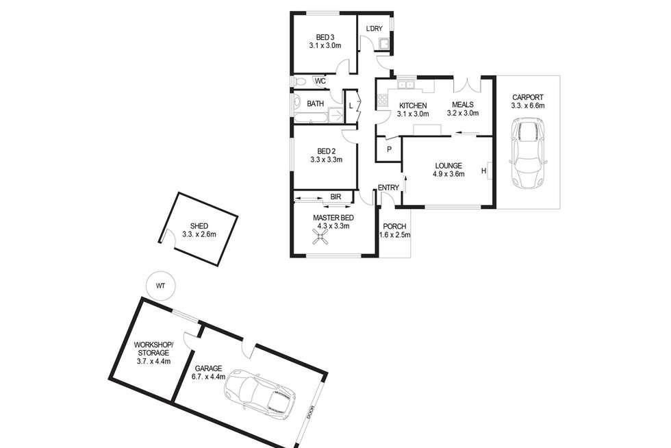 Floorplan of Homely house listing, 1 Bennett Crescent, Magill SA 5072