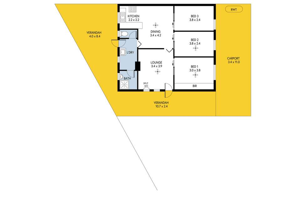 Floorplan of Homely house listing, 7 Audley Avenue, Salisbury North SA 5108