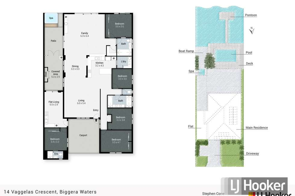 Floorplan of Homely house listing, 14 Vaggelas Crescent, Biggera Waters QLD 4216