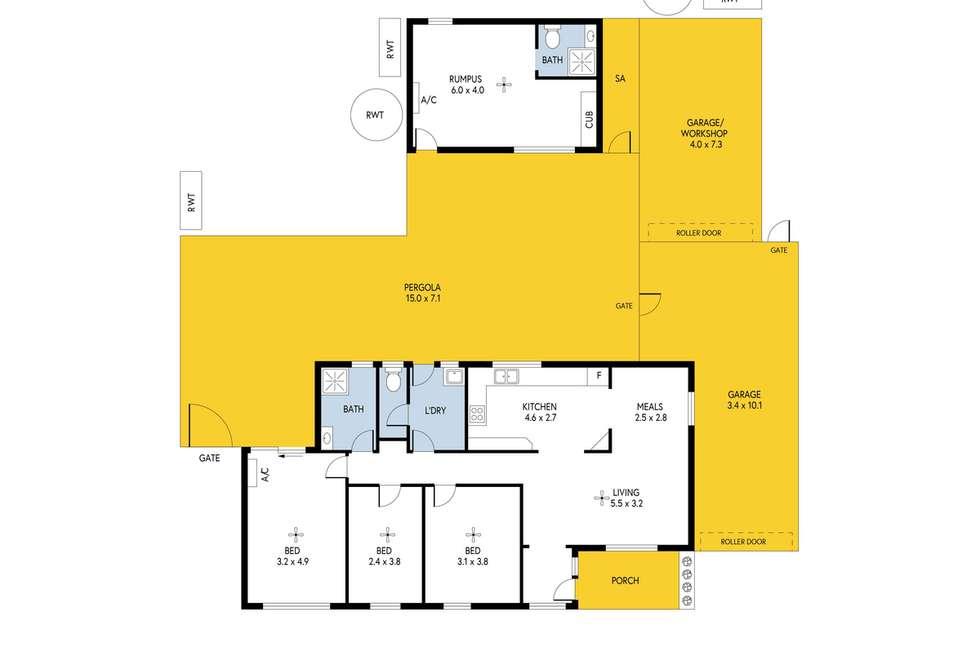 Floorplan of Homely house listing, 6 Westwood Street, Davoren Park SA 5113
