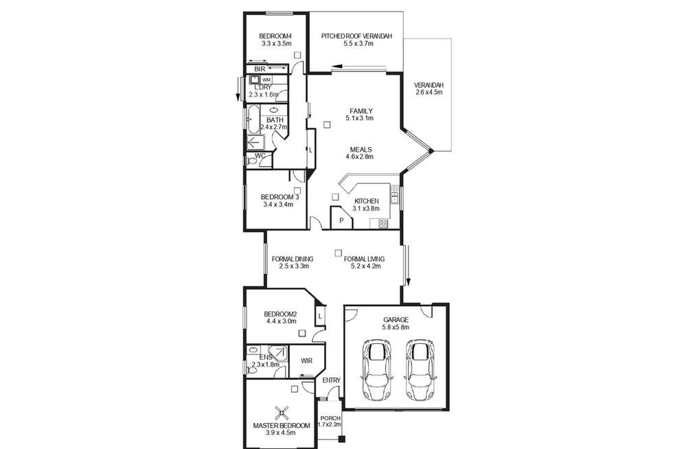 Floorplan of Homely house listing, 3 Vogt Place, Felixstow SA 5070