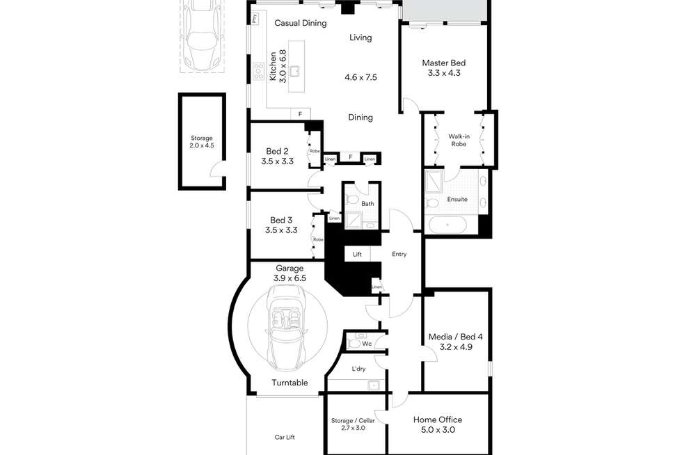 Floorplan of Homely apartment listing, 101/3 East Crescent Street, Mcmahons Point NSW 2060
