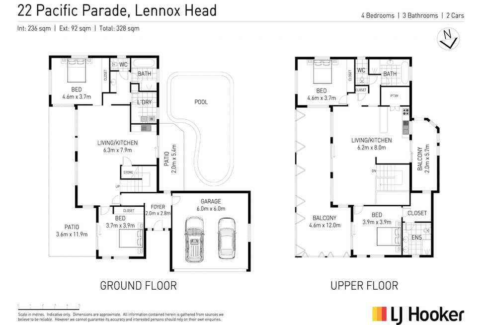 Floorplan of Homely house listing, 22 Pacific Parade, Lennox Head NSW 2478