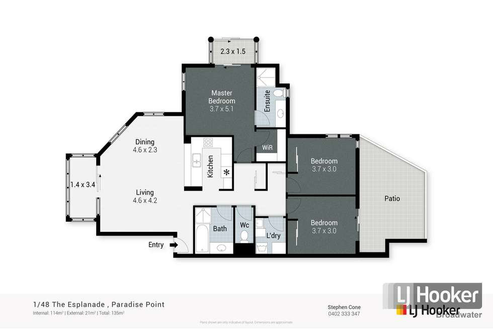 Floorplan of Homely apartment listing, 1/48 The Esplanade, Paradise Point QLD 4216