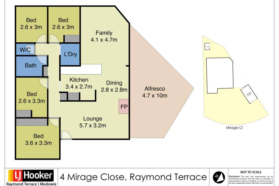 Floorplan of Homely house listing, 4 Mirage Close, Raymond Terrace NSW 2324