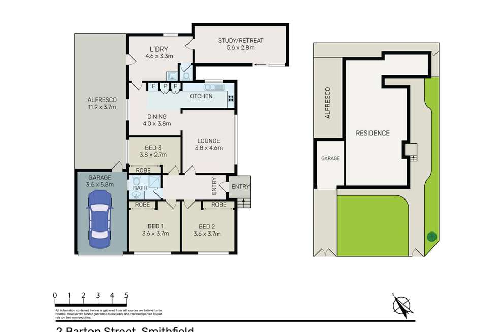 Floorplan of Homely house listing, 2 Barton Street, Smithfield NSW 2164