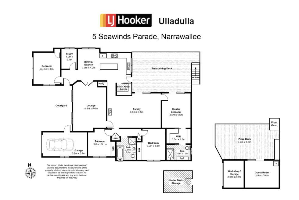 Floorplan of Homely house listing, 5 Seawinds Parade, Narrawallee NSW 2539