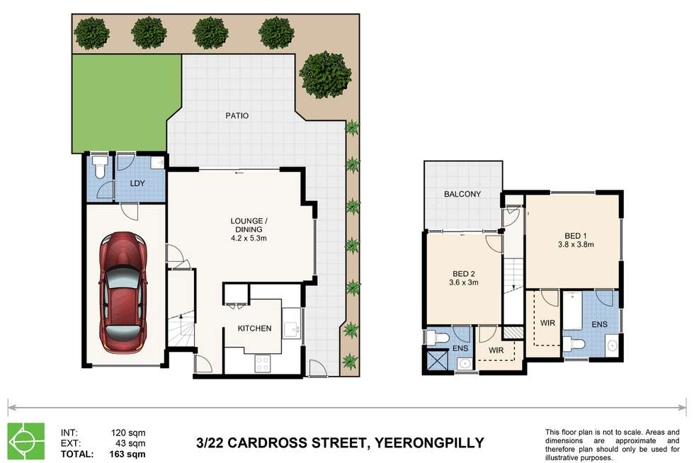 Floorplan of Homely townhouse listing, 3/22 Cardross Street, Yeerongpilly QLD 4105