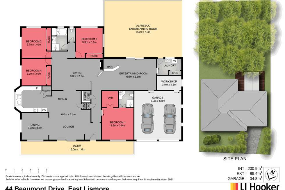 Floorplan of Homely house listing, 44 Beaumont Drive, East Lismore NSW 2480