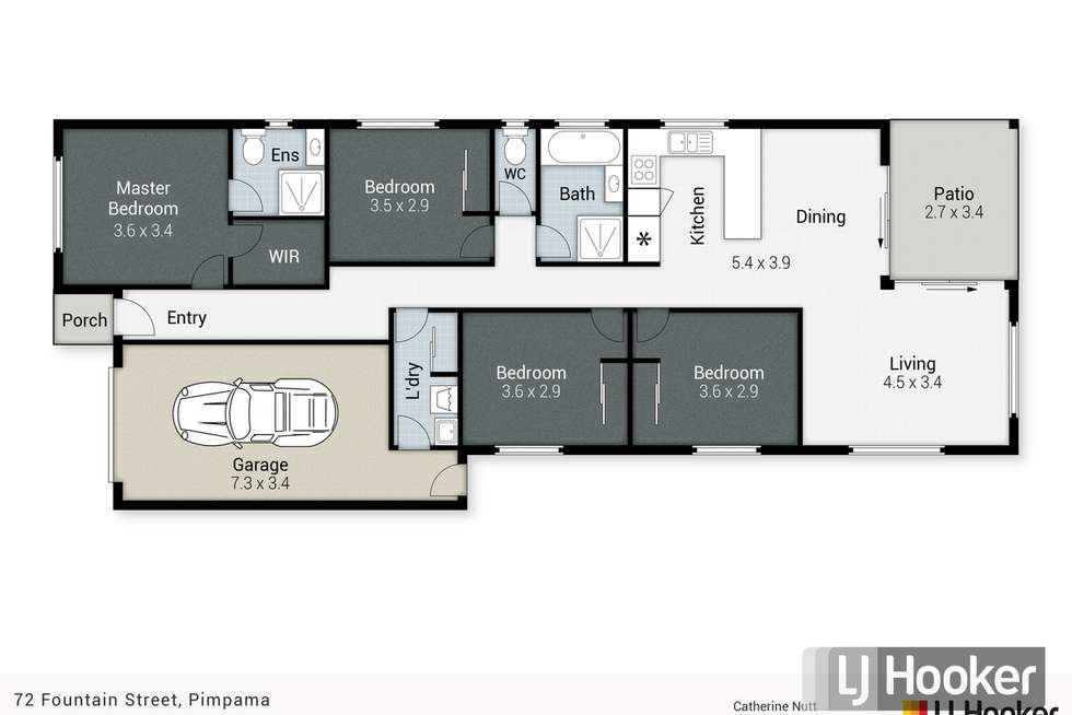 Floorplan of Homely house listing, 72 Fountain Street, Pimpama QLD 4209