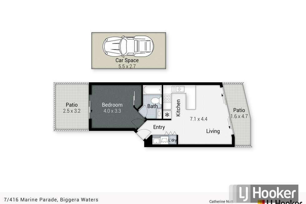 Floorplan of Homely apartment listing, 7/416 Marine Parade, Biggera Waters QLD 4216