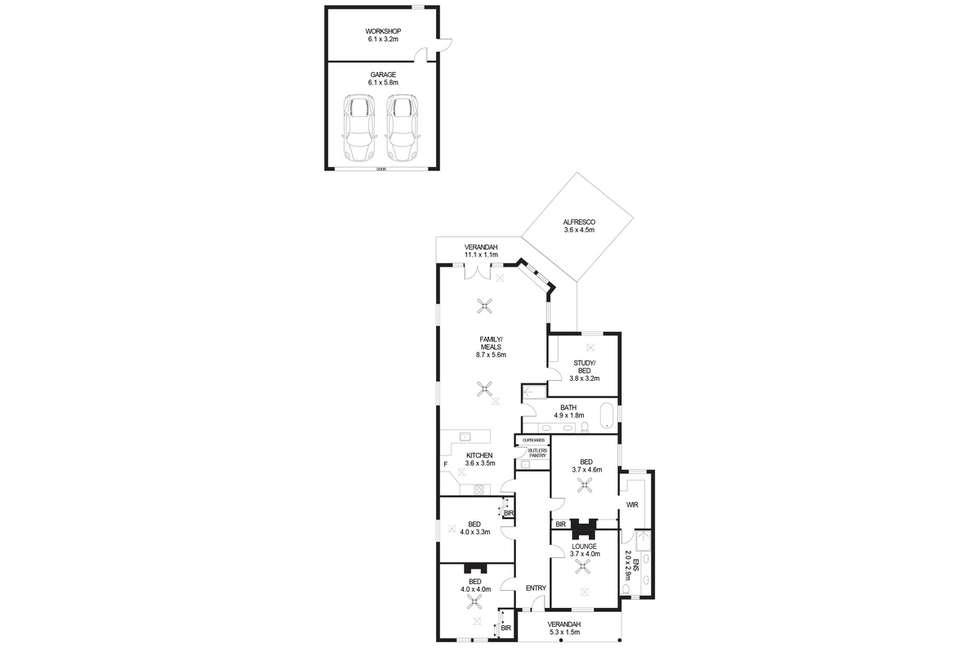 Floorplan of Homely house listing, 19 Gwynne Street, Firle SA 5070