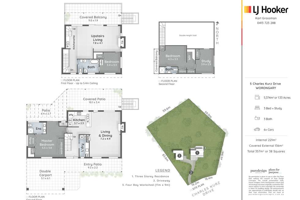Floorplan of Homely house listing, 5 Charles Kurz Drive, Worongary QLD 4213