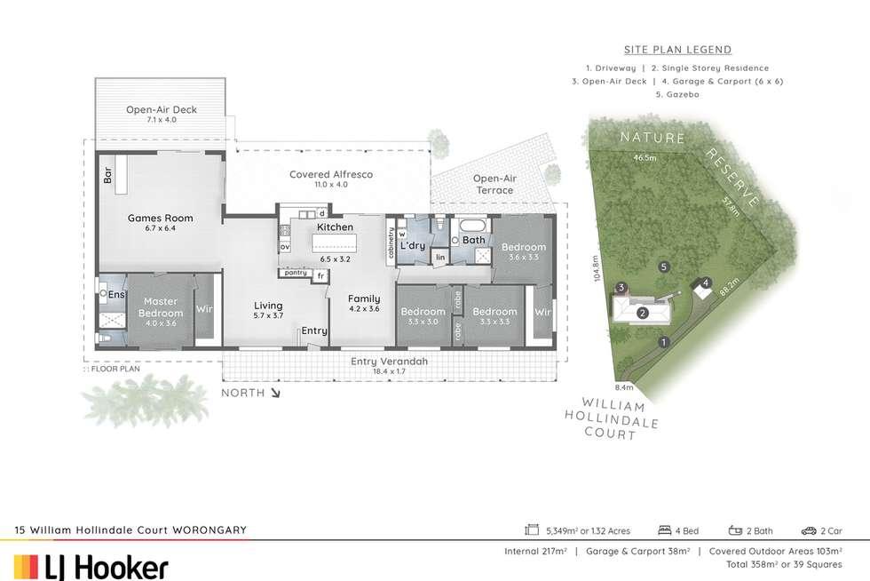 Floorplan of Homely acreageSemiRural listing, 15 William Hollindale Court, Worongary QLD 4213