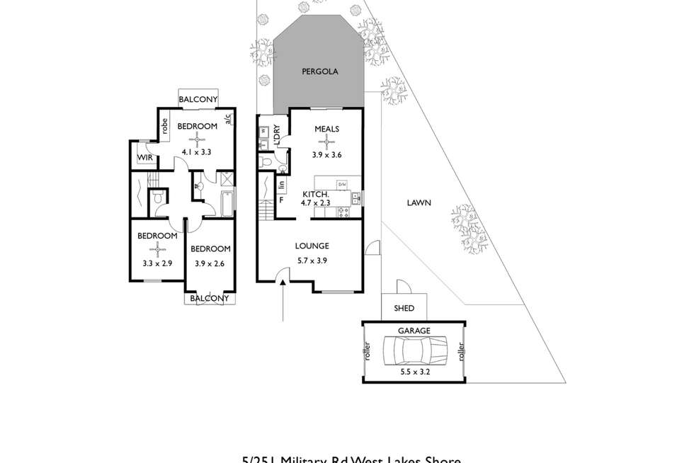 Floorplan of Homely townhouse listing, 5/251 Military Road, West Lakes Shore SA 5020