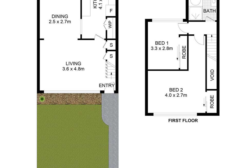 Floorplan of Homely townhouse listing, 1/3 Wilde Street, Carramar NSW 2163
